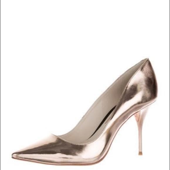 Sophia Webster Rose Gold Metallic Heels